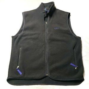 Patagonia Womens Fleece Vest Black Zip Vest Size L